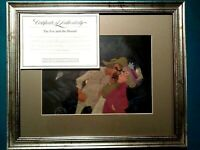 AMOS AND WIDOW TWEED FOX AND THE HOUND DISNEY ANIMATION PRODUCTION CELS, COPY BG