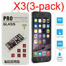 3PCS Tempered Glass Screen Film Protector For Apple IPhone 6 6S 7 7 8 Plus SE 5S