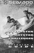 Sea-Doo Owners Manual Book 1996 SPEEDSTER, SPORTSTER & CHALLENGER