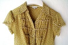 NEW - NEXT Ladies Chiffon Sheer TOP TUNIC BLOUSE - UK 12  EU40 - Lime Green