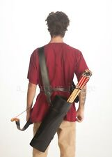 Black Leather Quiver + Strap by Palnatoke Medieval LARP cosplay SCA Top Quality