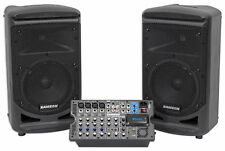 "Samson Expedition XP800 800w Portable 8"" PA DJ Speaker System+8-ch Powered Mixer"