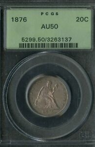 US Coin 1876 Seated Liberty 20c Piece PCGS AU50 NO RESERVE!
