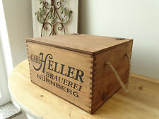 C1 Small Chest ~ Carl Brighter Brewery Nuremberg ~ Wooden Box Vintage Box