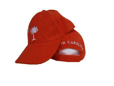 South Carolina SC State Palmetto Orange Embroidered Cap Hat