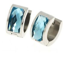 Crystal Jewelry Earring Blue Stainless Steel Acrylic