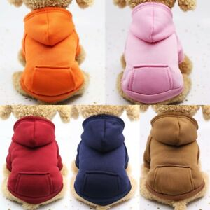 Puppy Cat Pet Dog Hoodie Jacket Coat Winter Warm Clothes Sweater Costume Apparel