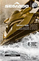Sea-Doo 2006 4-TEC GTX WAKE RXT RXP GTI Owners Manual Paperback Free Shipping