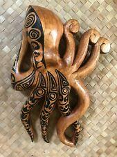 New Tattooed Maori Octopus Plaque Tiki Smokin' Tikis Hawaii sm 3