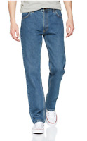 Mens  Lee Brooklyn 'blue stonewash' comfort fit jeans FACTORY SECONDS L170