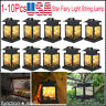 1-10Pcs Waterproof Outdoor Solar Lantern Hanging Light LED Patio Garden Lamp USA