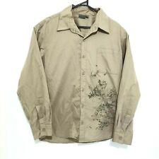 Kathmandu Mens Shirt Size M Brown Long Sleeve Button-Front Outdoor Wear