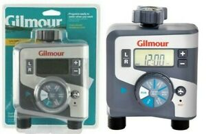 Gilmour 804014-1001 400GTD Outlet Electronic Water Timer, Dual, Gray