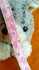 """""""New"""" Fabric Cat Collar - Flamingo Pink Follies. Tropical Meow"""
