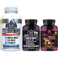 Testosterone Booster Monster Test, Monster PM and Apple Cider Vinegar Beet Root