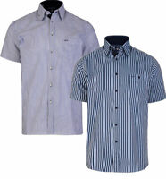 NEW MENS SHORT SLEEVE STRIPE SHIRT SHIRTS  BIG TALL 2XL 3XL 4XL 5XL 6XL 7XL 8XL