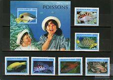 Never Hinged 1999 Aquarium Fish Benin 1163-1168 Unmounted Mint Benin