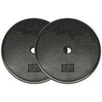 Yes4All Standard 1-inch Cast Iron Weight Plates 25 lbs Pair