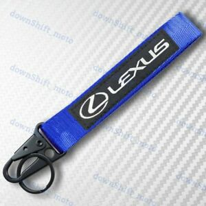 For LEXUS Blue Racing Keychain Metal key Ring Hook Strap Lanyard Nylon Universal