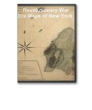 84 Historic Revolutionary War Maps of New York NY on CD - B65