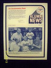 DODGERS ALUMNI NEWS - APRIL, 1985 - VOLUME 2, NUMBER 2 - EXCELLENT CONDITION