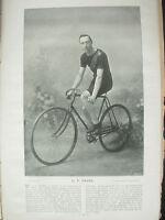 THE SPORTFOLIO PORTRAITS 1896 VINTAGE CYCLING PHOTOGRAPH PRINT G.F. PAYNE