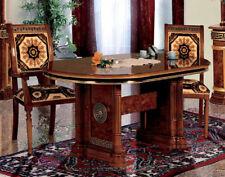 à manger télescopique noyer Haute Brillance classique meubles de style d'Italie