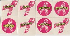 PINK RIBBON CAMOFLAUGE 12 Temporary Tattoos FIND A CURE