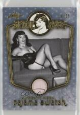 2014 Leaf Pajama Swatch Gold #BP-PJPJ10 Bettie Page Non-Sports Card 0aa
