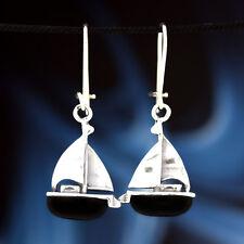 Onyx Silber 925 Ohrringe Damen schmuck Sterlingsilber H348
