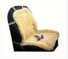 Premium Sheepskin Car Seat Cushion Cover - Beige Universal Fit