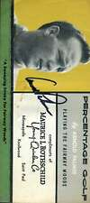 Arnold Palmer JSA Coa Hand Signed 1960`S Fold Out Brochure Autograph