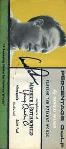 Arnold Palmer JSA Coa Hand Signed 1960`S Fold Out Brochure Autograph