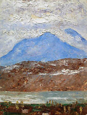 Unbekannt signiert (G. Darier) / Gemälde Gebirgslandschaft m. See / Genf Schweiz
