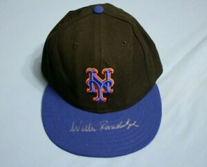 Willie Randolph New Yok Mets unused game hat autographed Steiner authenticated
