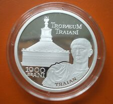 10 lei 2009 Romania silver rare Proof 1900 years Tropaeum Traiani Adamclisi