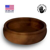 Handmade Clay Round Cooking Tray, Lead Free Casserole Earthenware Tray