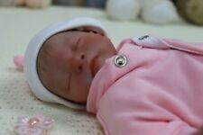 "REBORN BABY GIRL DOLL PREEMIE PREMATURE 13"" CALEB BONEHAM BY ARTIST OF 9YRS GHSP"