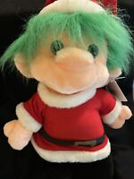 """1992 TROLIO Vintage Plush Christmas 18""""  TROLL doll ! Great Shape !"""