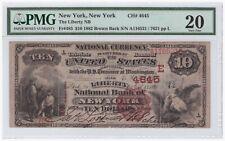 $10 1882 Brown Back FR#485 New York CH#4645 PMG 20