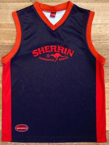 AFL Sherrin Kangaroo Brand Football Jumper Guernsey Black Red Essendon Bombers M
