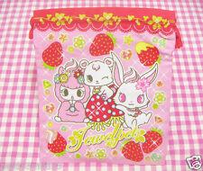 Sanrio Jewelpet Cotton Drawstring Bag / Japan 2012 BANDAI