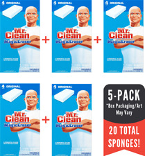 [5-PACK] Mr. Clean Magic Eraser Multi-Surface Cleaner (20 Total Sponges)!
