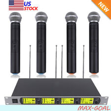 GTD Audio 4x800 Channel UHF Diversity Wireless Handheld Microphone Mic System MX