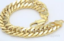 "240mm(9.44"")*10mm Thick Heavy 18k Yellow Gold Filled Mens Bracelet Chain"