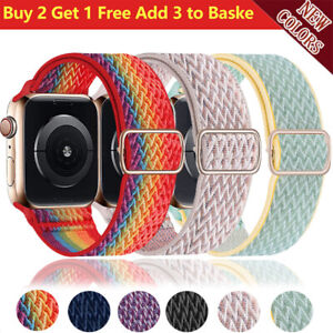 Nylon iWatch Band Strap For Apple Watch Series 6 5 4 3 2 1 SE 38mm 40mm 42mm 44m