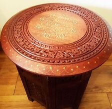 Wood Less than 30 cm Width Round Side & End Tables