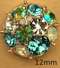 [: Mini Snap Chunk Button 12mm Rose Gold Blue Sets For Ginger Snap Style Jewelry