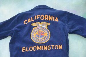 Vintage FFA Vocational Agriculture Bloomington CA Men's Corduroy Jacket Size 34.