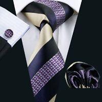 SN-539 Men's 100% Jacquard Woven Silk Neckties Tie+Hanky+Cufflinks Sets Free P&P